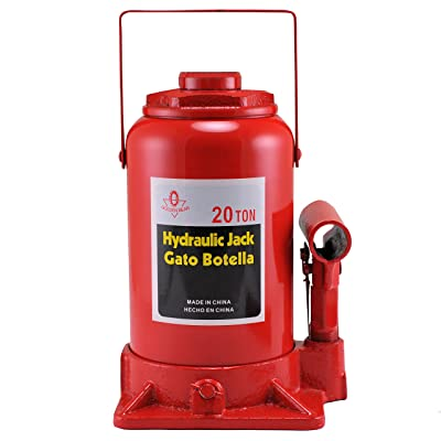 Hiltex 20206 High Lift, Heavy Duty Hydraulic Bottle Jack, 20 Ton: Home Improvement