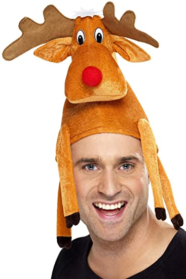 Amazon.com  Smiffy s Rudolph Reindeer Funny Costume Hat  Clothing 05ced88473ff