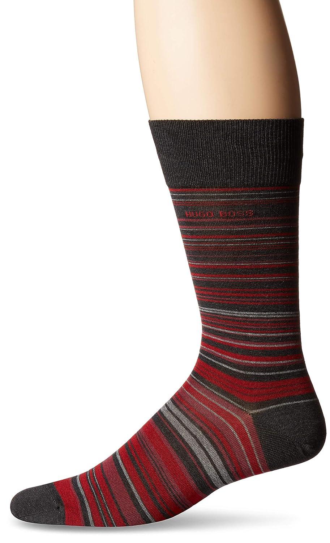 Hugo Boss Men's Rs Stripe Dress Sock Black 10-13 BOSS HUGO BOSS 50401467