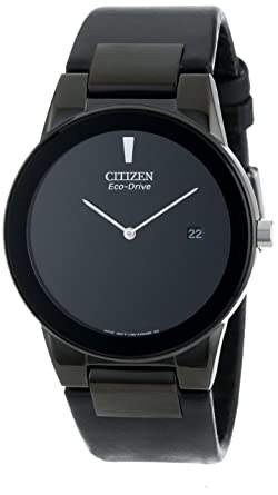 caee68e9d7a Amazon.com  Citizen Men s Eco-Drive Axiom Watch with Black Leather ...