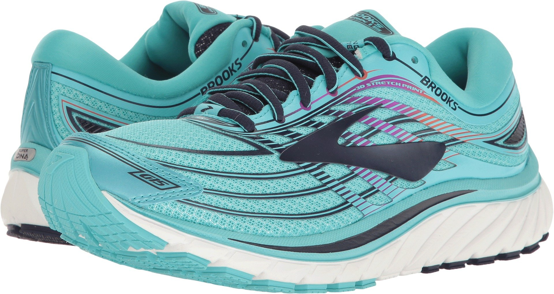 Brooks Women's Glycerin¿ 15 Capri/Evening Blue/Purple Cactus Flower 5 B US