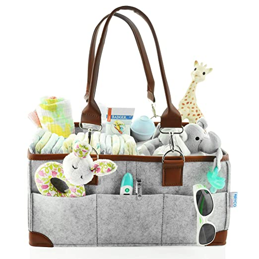 Amazon.com: Organizador de pañales para bebé, cesta de ...