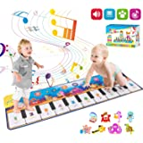 Retruth Kids Musical Mat Toys, Piano Mat Keyboard Dancing Mat with 8 Instrument Modes, Touch Play Mat Early Education…