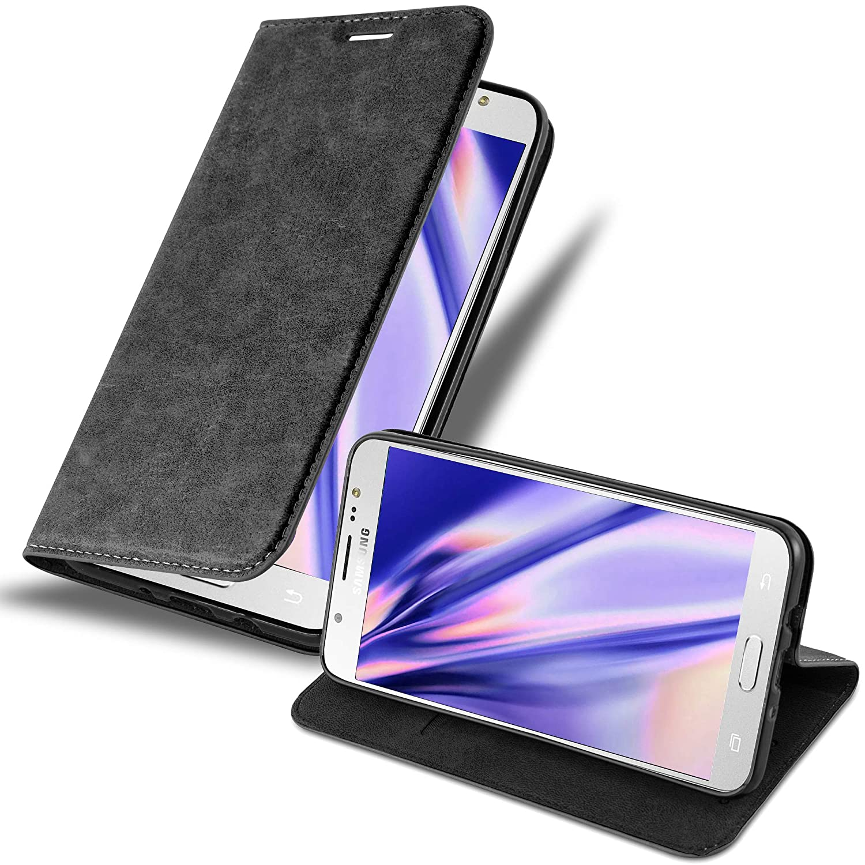 Cadorabo Funda Libro para Samsung Galaxy J7 2016 en Negro ...