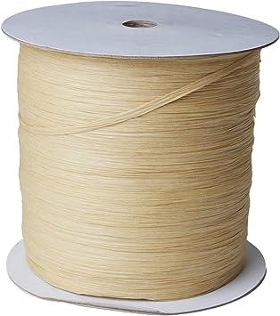 Jillson Roberts .25 x 1000 Yard Bulk Spool Paper Raffia Ribbon Available in 16 Colors Natural