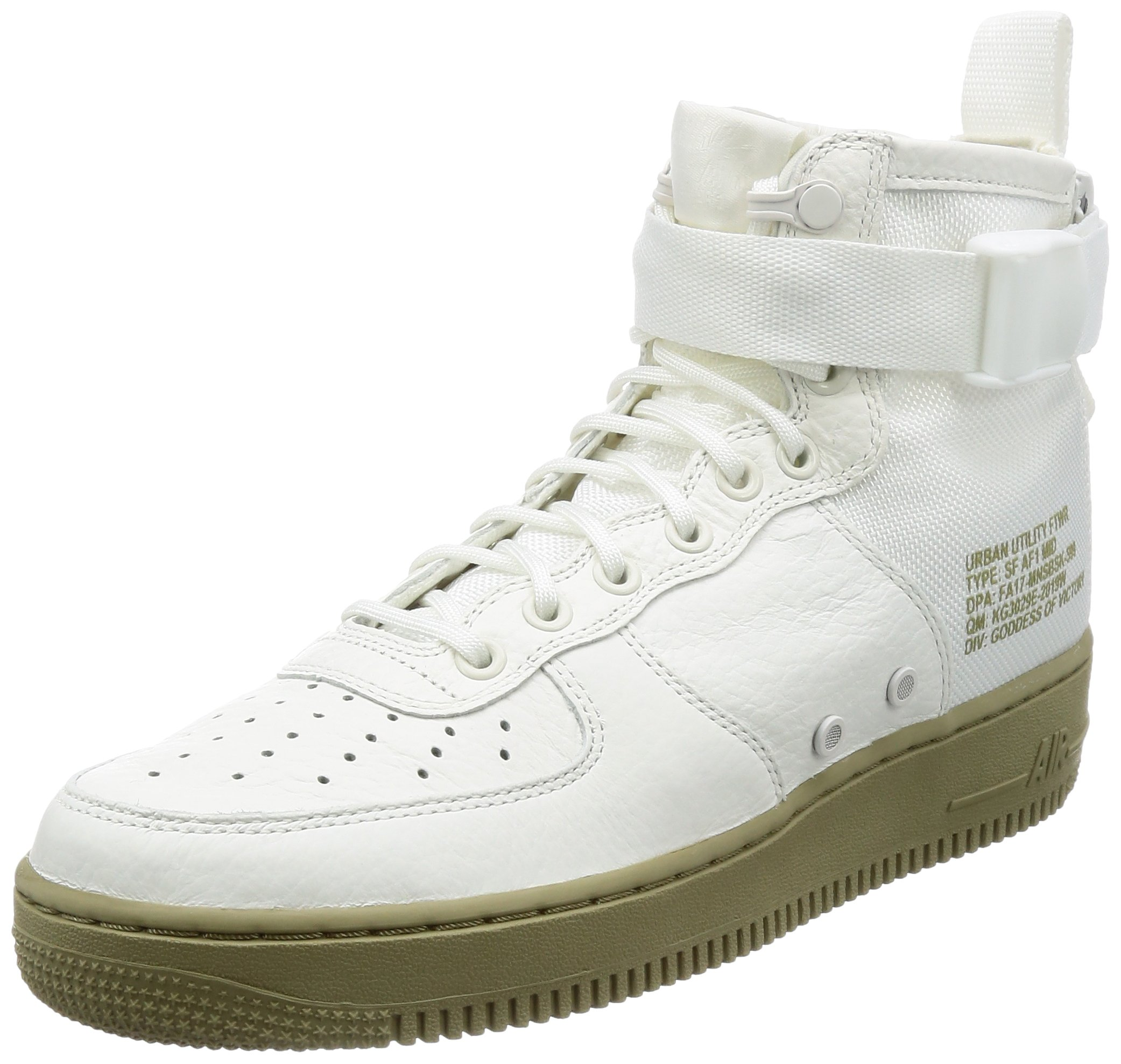 869b7749b7 Galleon - NIKE Mens SF AF1 Mid Ivory/Ivory Neutral Olive Basketball Shoe 10  Men US