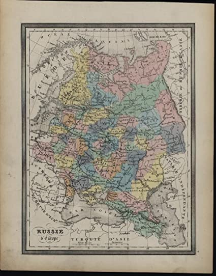 Paris Georgia Map.Russia In Europe Crimea Poland Georgia C 1858 Antique Lithograph