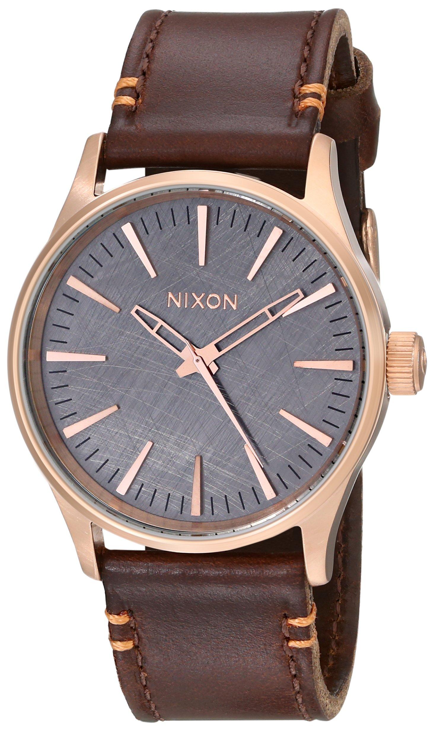Nixon Men's A3772001 Sentry 38 Leather Watch by NIXON