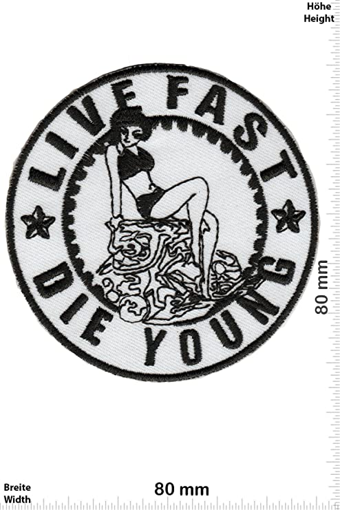 Parche moteroLIVE FAST DIE YOUNG