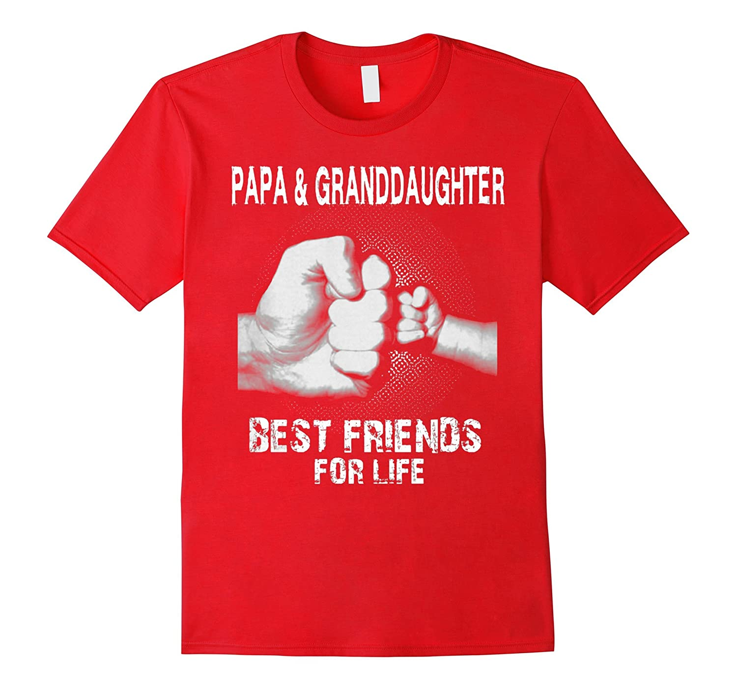 Papa and Granddaughter Best Friends For Life Cute Shirt-TH
