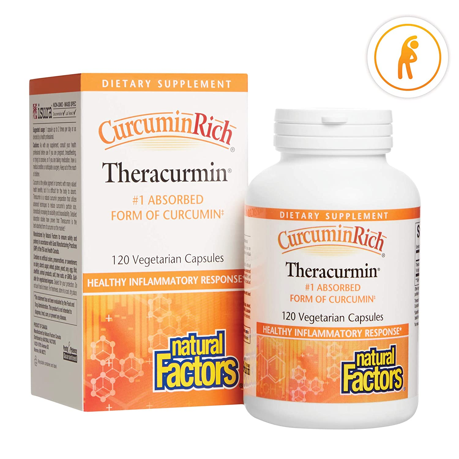 CurcuminRich Theracurmin by Natural Factors, Turmeric, 120 capsules (120 servings)