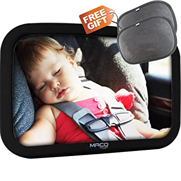 Baby Car Seat Mirror Best Large BackSeat Infant Rear Facing Includes A Pair