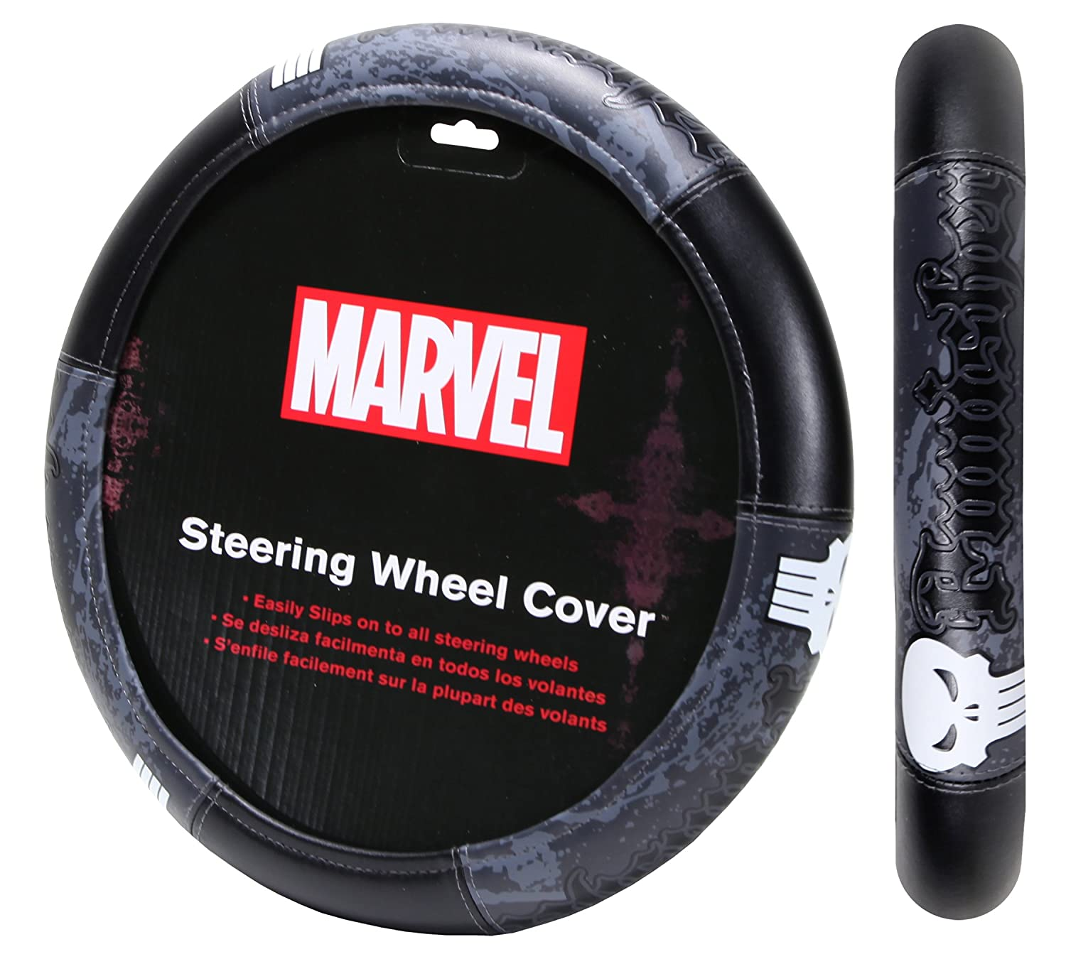 Plasticolor 006753R01 Marvel Punisher Speed Grip Steering Wheel Cover
