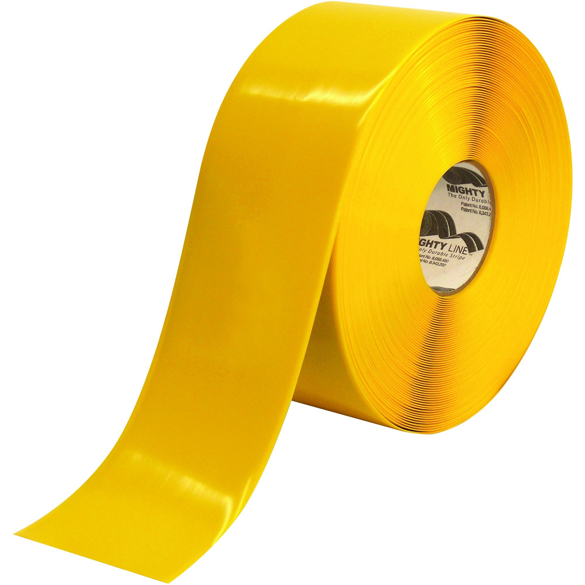 Partners Brand PT94100Y Yellow Mighty Line Deluxe Safety Tape, 100' Length, 4'' Width