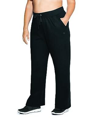 72826a6a37647 Amazon.com  Champion Women s Plus-Size Fleece Open Bottom Pant  Clothing