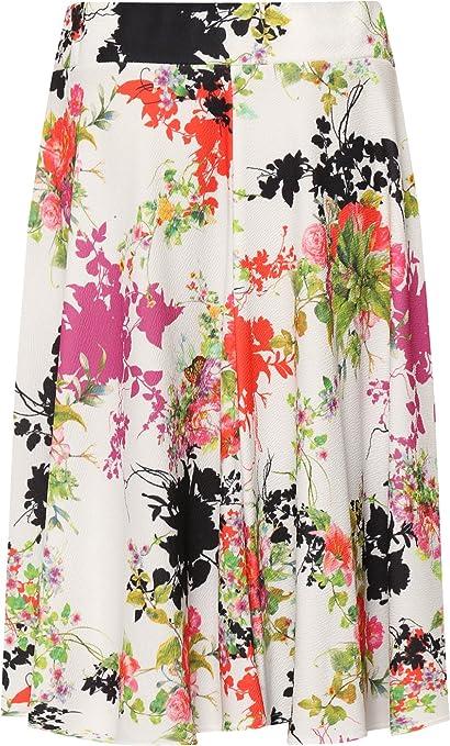 WearAll Femmes Plus Floral Patineur Jupe Dames Imprimer Genou Longueur  Élastiquée Étendue Nouveau - 42-56  Amazon.fr  Vêtements et accessoires a0a2e8761a8a