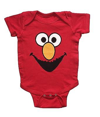 e5d32d933 Sesame Street Baby Boys Elmo One Piece Snap Bodysuit (12-18 Months):  Amazon.co.uk: Clothing