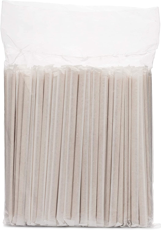 Regal Beagle Compostable Regular Bamboo Fiber Straws for Drinks - 200 pcs - No paper taste, long lasting, natural