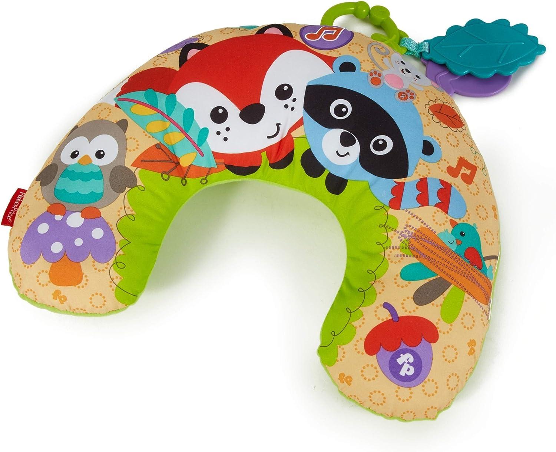 Fisher-Price - Almohadilla de media luna bosque, bebé +0 meses (Mattel CDN50)