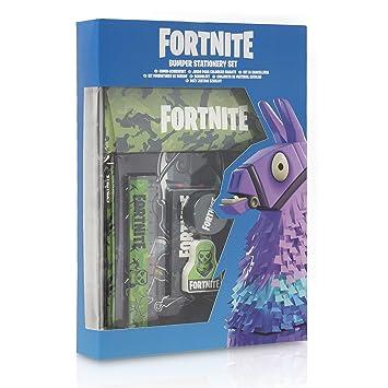 Fortnite Set Papelería Completo para Niños | Set de Papelería 12 Piezas, Material Escolar Edición Limitada Con Cuaderno A4, Estuche Fortnite y Lápices ...