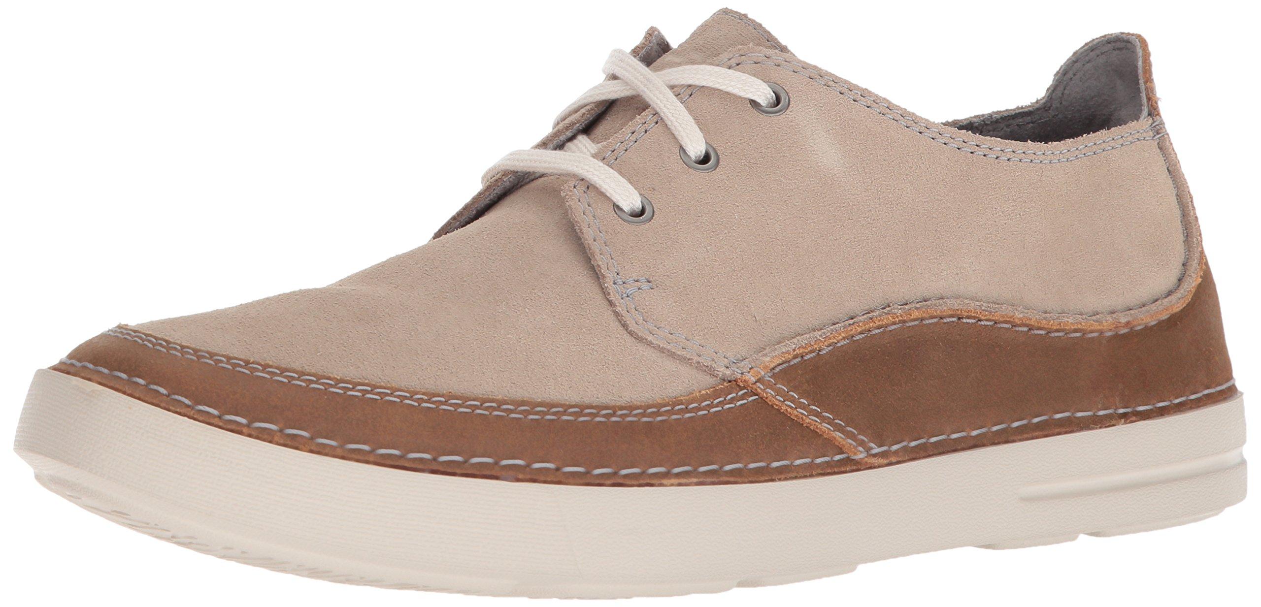 CLARKS Men's Gosler Edge Sneaker, Sand Suede, 12 M US