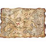Classic Pirate Children's Party Buried Treasure Map Scroll Prop Decoration