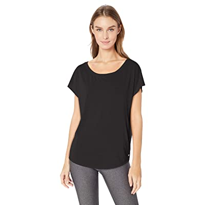 Essentials Women's Studio Open-Back Short-Sleeve T-Shirt: Clothing