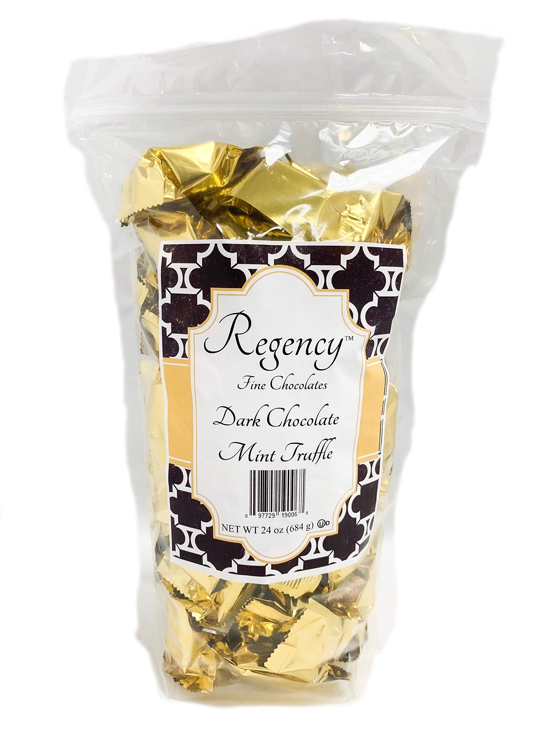 Regency Fine Chocolate Truffles, Dark Chocolate Mint, 60 Count