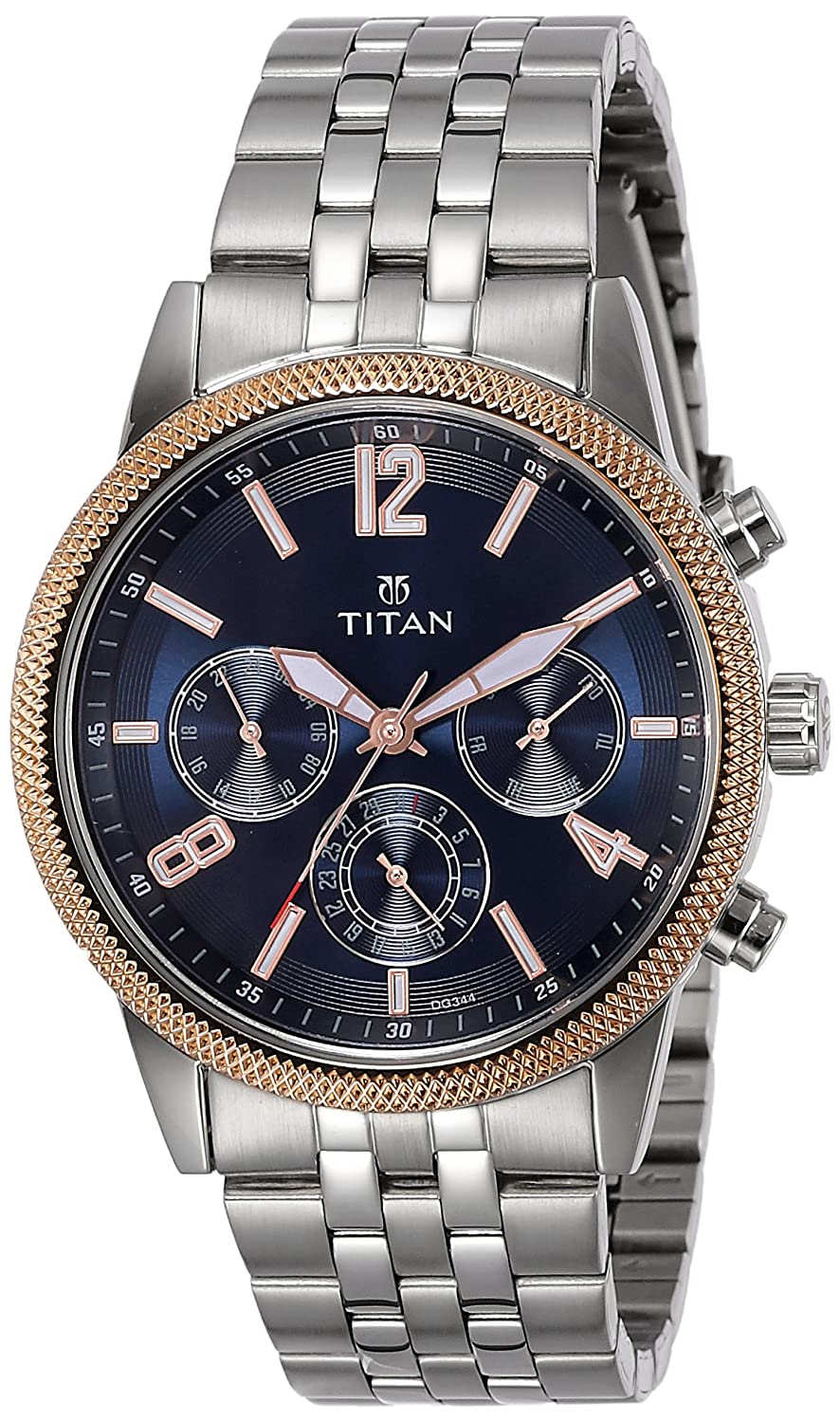 Titan Neo Analog Blue Dial Best Mens Watches Under 5000 in India to buy in 2019 - Reviews & Buyers Guide
