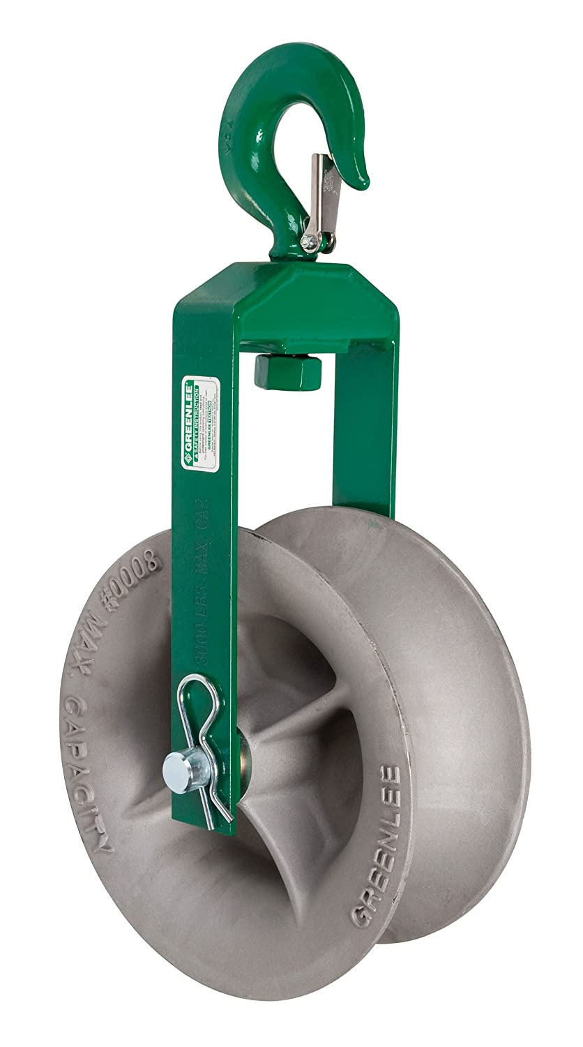 Greenlee 8012 Hook Sheave, 8000-Pound Capacity, 12-Inch - Rigging ...