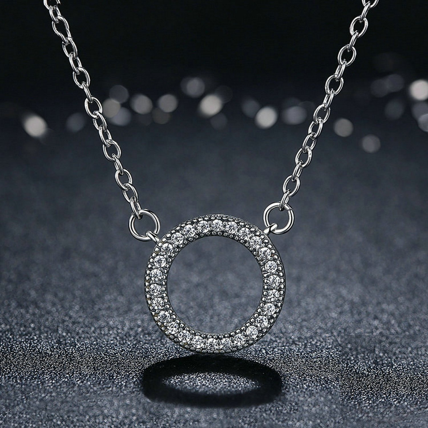 MMC Womens Necklaces Pendants Lucky Circle Silver Jewelry