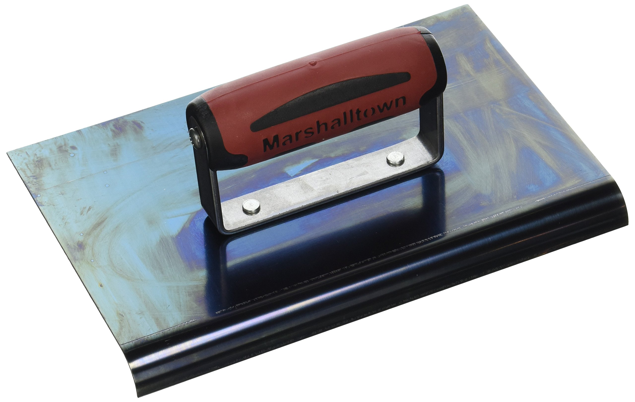 MARSHALLTOWN The Premier Line 166BD 9-Inch x 6-Inch Blue Steel Edger-1/2-Inch Radius, 5/8-Inch Lip DuraSoft Handle