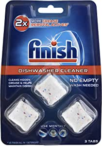 Finish Dishwasher Cleaner Tablets 3 Pack, 0.068 kilograms