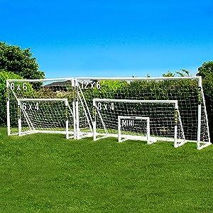 FORZA Replacement Soccer Goal Parts | Weatherproof PVC Spare Pieces | Corners, Connectors & Back Stanchions