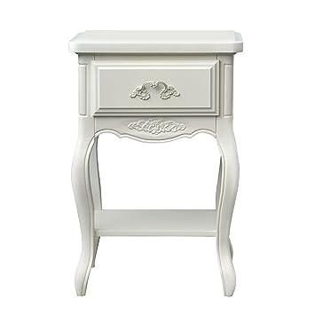 Furniture 247 Möbel 247 Provencal Nachttisch Holz Weiß Amazon