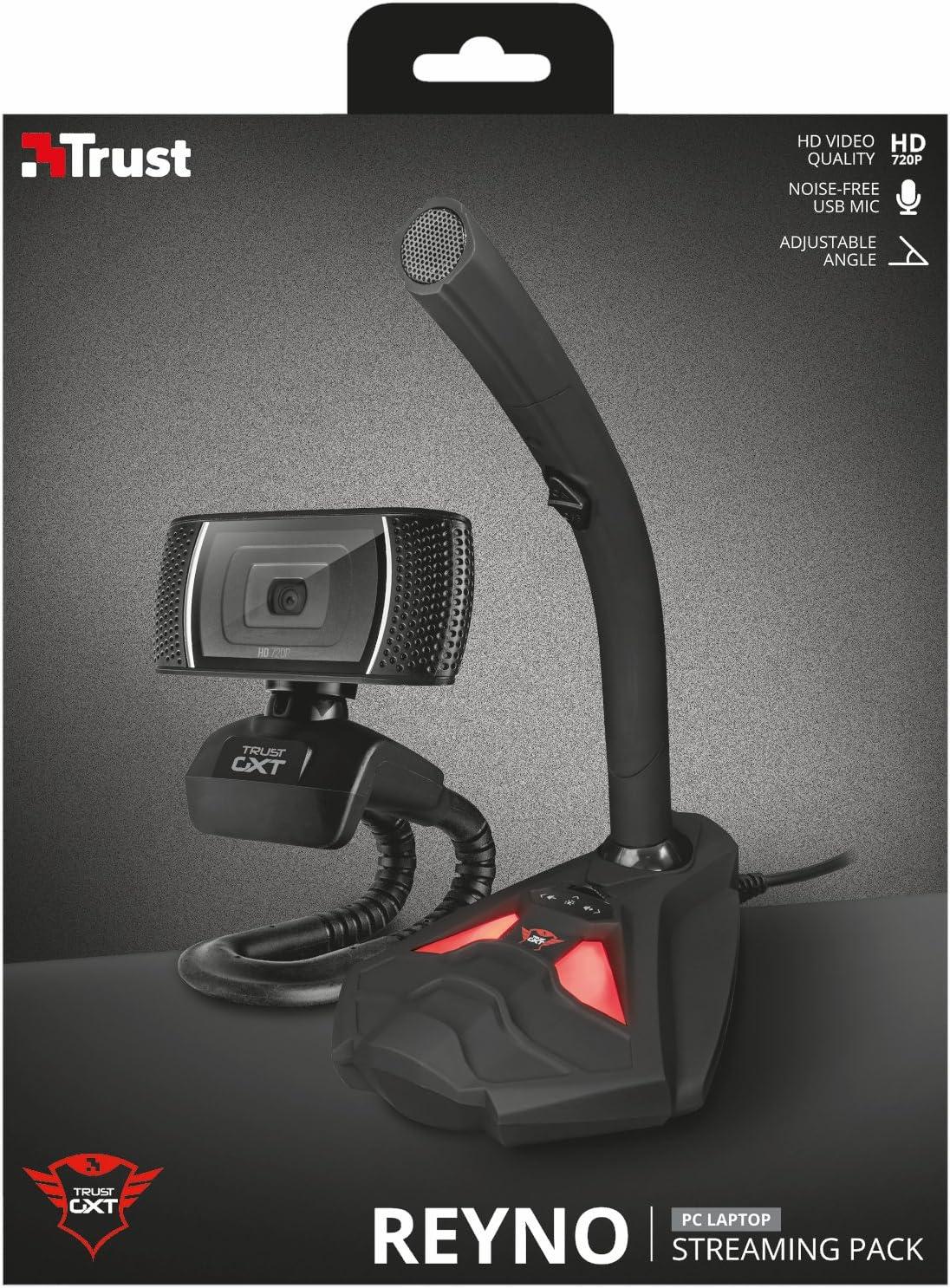 Trust Gaming GXT 786 Reyno - Pack para Streaming con Webcam y micrófono, Color Negro: Trust: Amazon.es: Informática