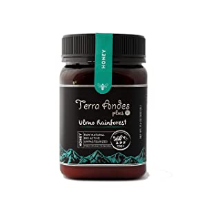 Terra Andes Raw Honey – APF 150 Unpasteurized Honey – Ulmo Rainforest All-Natural Honey – Non-GMO Creamy Sweet Honey – Organic Formula Traceable from Hive to Hand – Multifunctional Superfood - 17.6 oz