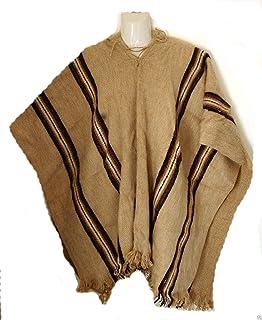 Lana recinto ferial para hombre de lana de alpaca Poncho Cabo desde Bolivia