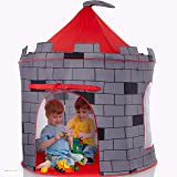Kids Play Tent Knight Castle - Portable Kids Tent - Kids Pop Up Tent Foldable Into Carrying Bag - Childrens Play Tent For Ind