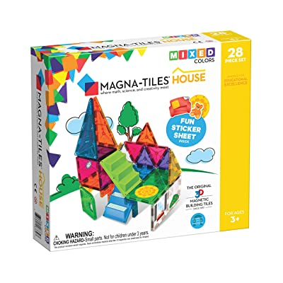 Magna-Tiles House Set, The Original, Award-Winning Magnetic Building, Creativity & Educational, Stem Approved, Solid & Clear Colors: Industrial & Scientific