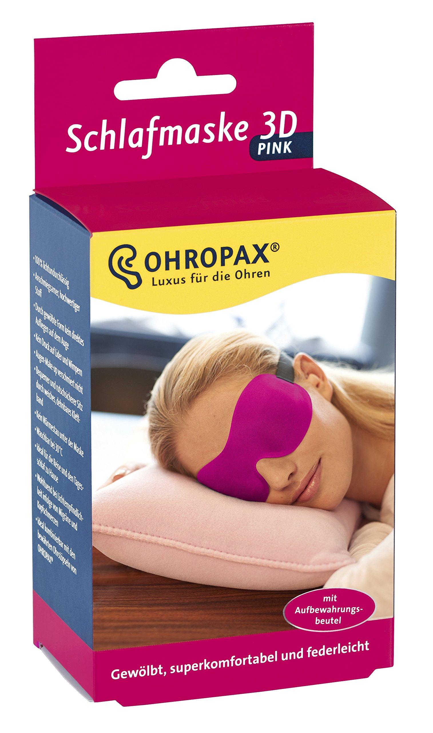 Ohropax Sleep Mask 3D Pink Pack of 1