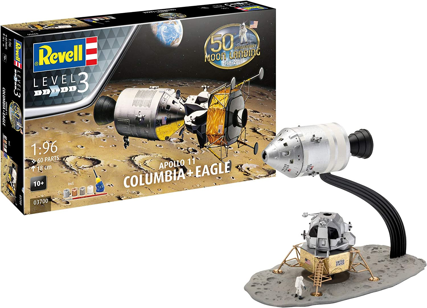 Revell 03700 Apollo 11 Columbia /& Eagle Level 3 1:96 NEU//OVP