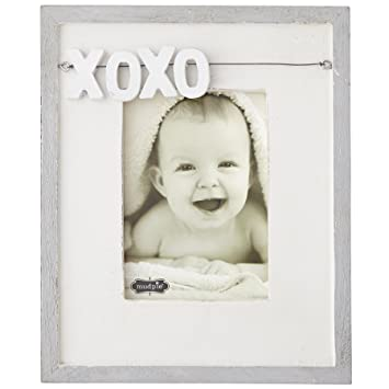 Amazon Mud Pie Xoxo Distressed White Wood Picture Frame 5 X 7