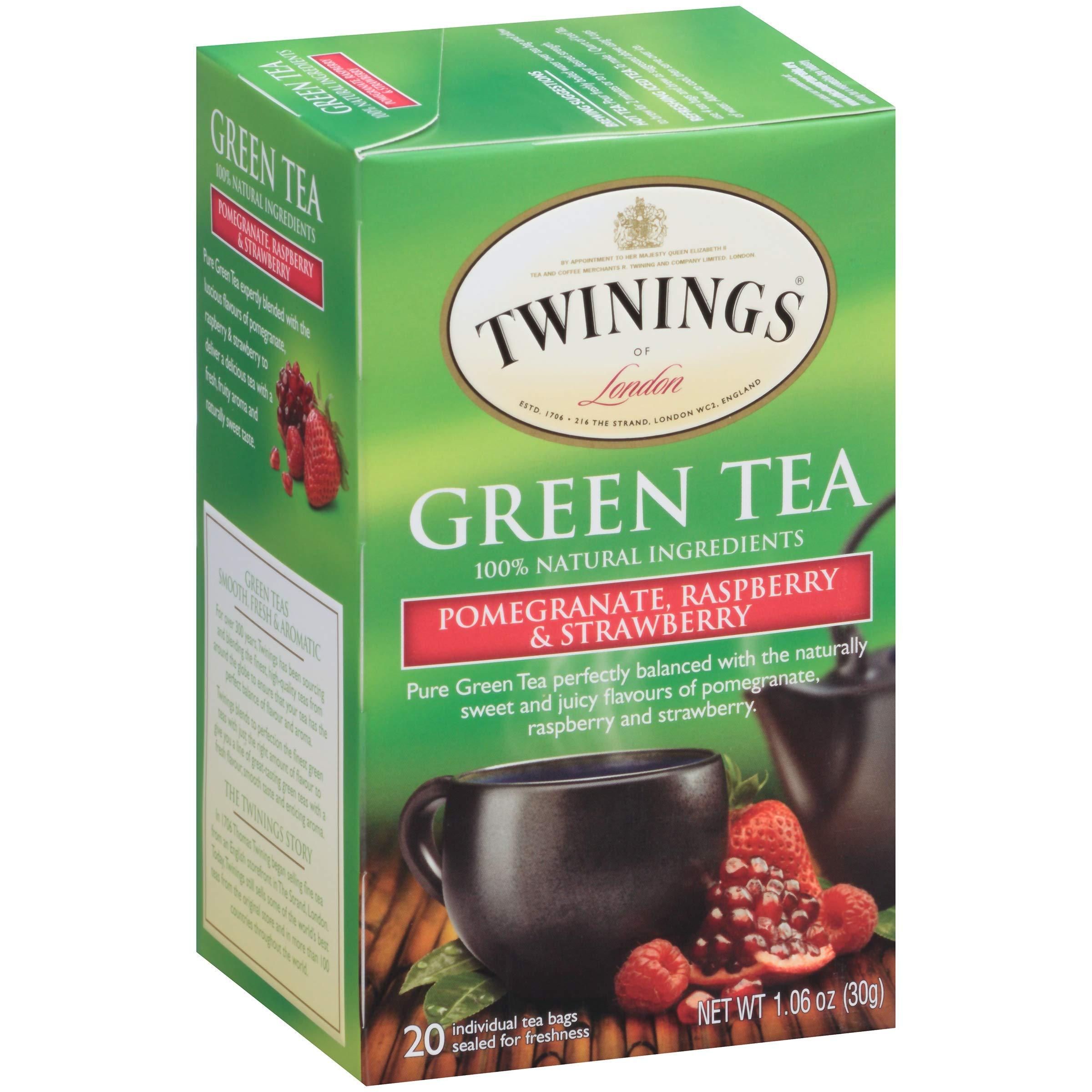 Twinings of London Tea (Pomegranate Raspberry & Strawberry 20 ct (4 pack))