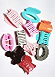 Drishti Plastic Hair Tic Tac Clip for Girls & Women Medium Size Multicolor Pack of 12