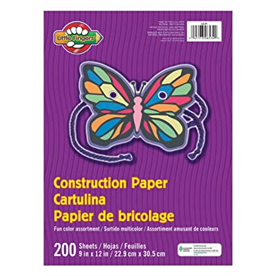 """Pacon PAC6534 Little Fingers Construction Paper, 9"""" x 12"""", Assorted Colors, 200 Sheets: Industrial & Scientific"""