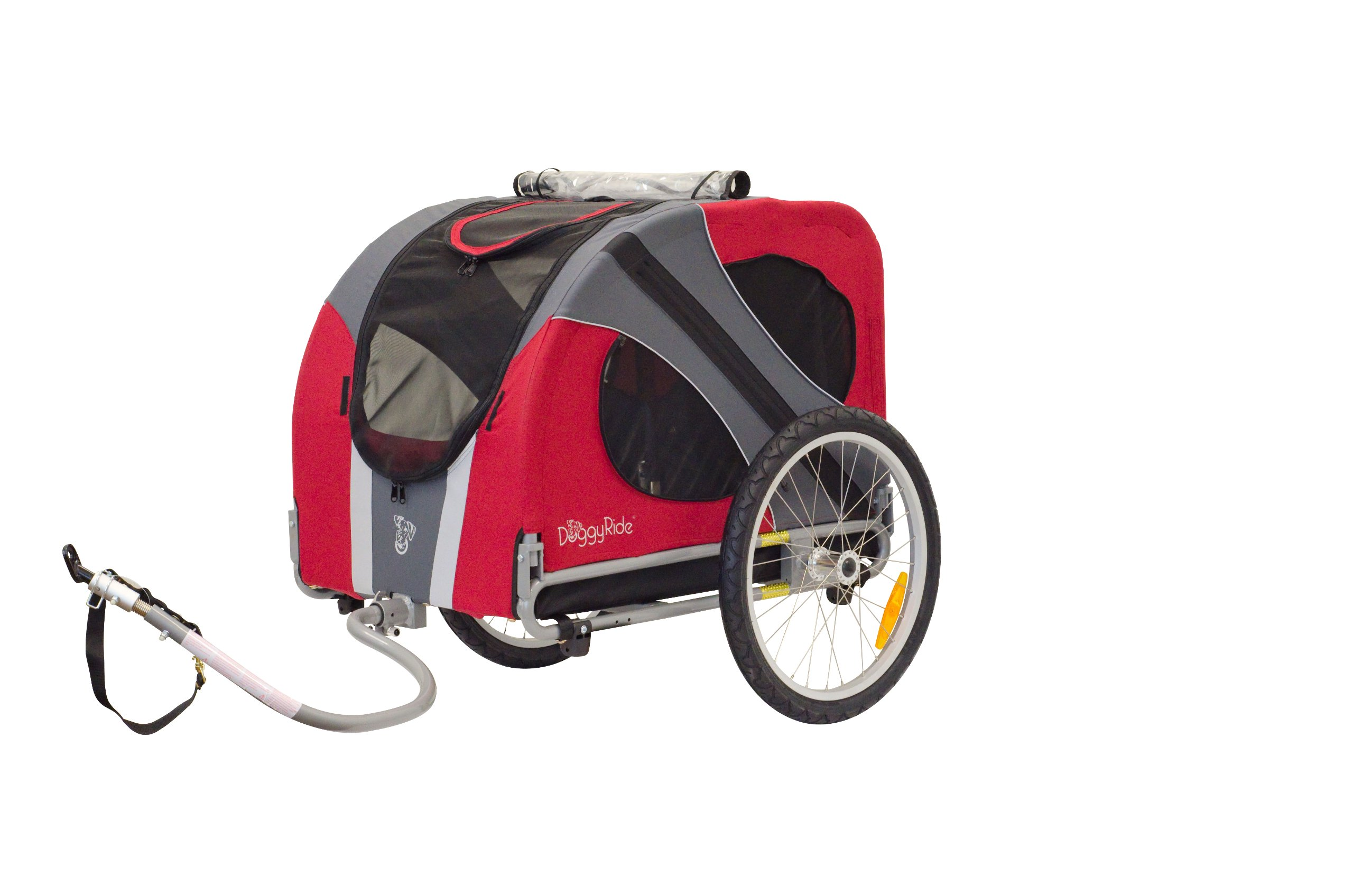 DoggyRide Novel Dog Bike Trailer, Urban Red by DoggyRide