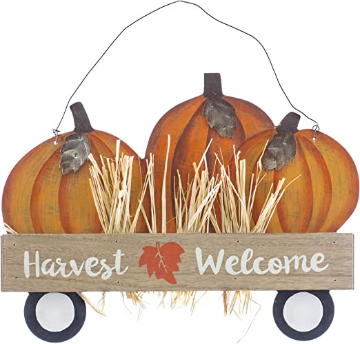 Thanksgiving Harvest Home Decor Pumpkins Wooden Turkey Sculpture