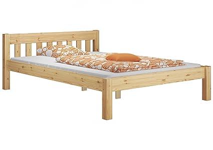Letto matrimoniale futon bianco in pino massello eco con
