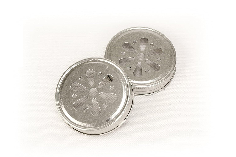 Kate Aspen Mason Jar Lids, Flower, Set of 12